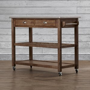 Weldona Kitchen Island with Stainless Steel Top by Trent Austin Design