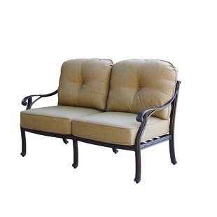 Lincolnville Deep Seating Loveseat with Cushion by Fleur De Lis Living