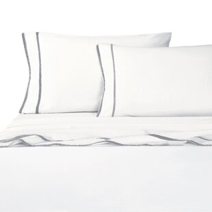 Drakeford Embroidered 4 Piece Sheet Set