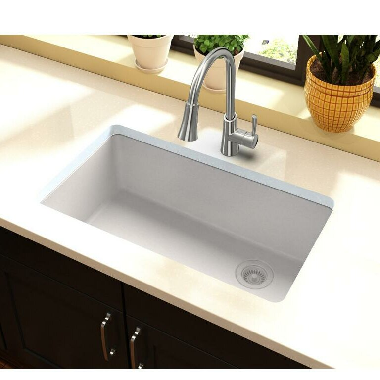 ELGU13322WH0 Quartz Classic 33  L x 19  W Undermount Kitchen Sink  sc 1 st  Wayfair & Elkay Quartz Classic 33