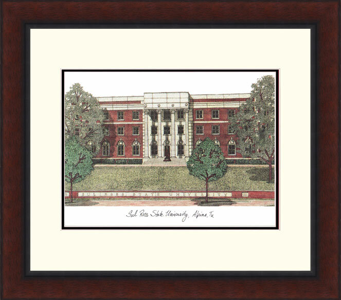 Campus Images Ncaa Sul Ross Lobos Legacy Alumnus Lithograph Picture Frame Wayfair