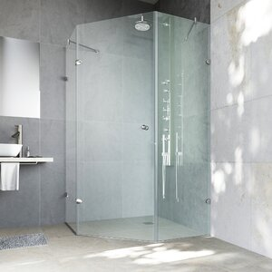 Verona 42 x 42-in. Frameless Neo-Angle Shower Enclosure with .375-in. Clear Glass and Chrome Hardware