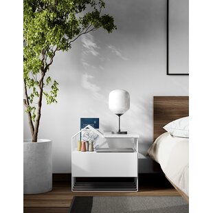 Lamptrai 1 Drawer Nightstand by Orren Ellis