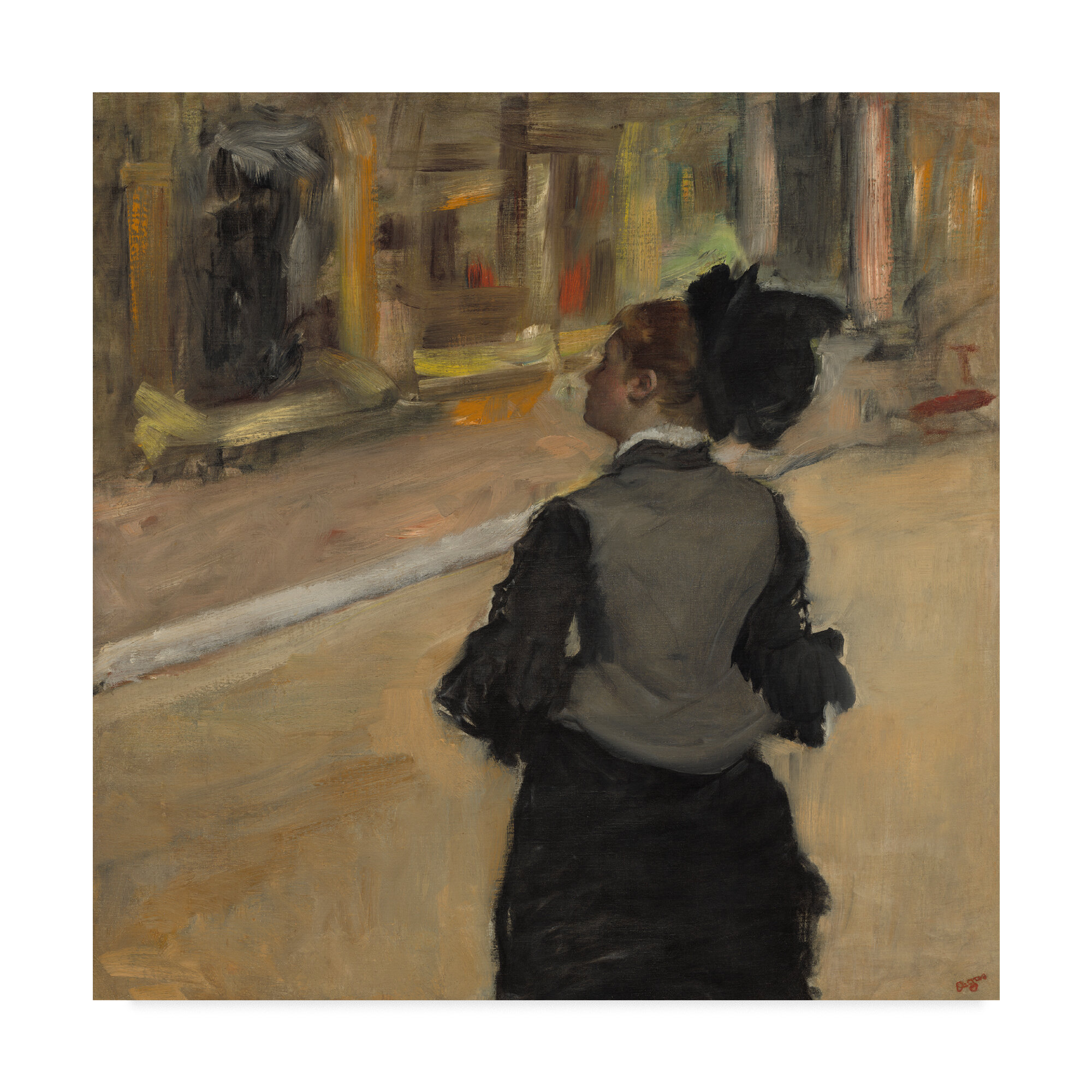 Astoria grand woman viewed from behind by edgar degas oil painting print on wrapped canvas wayfair