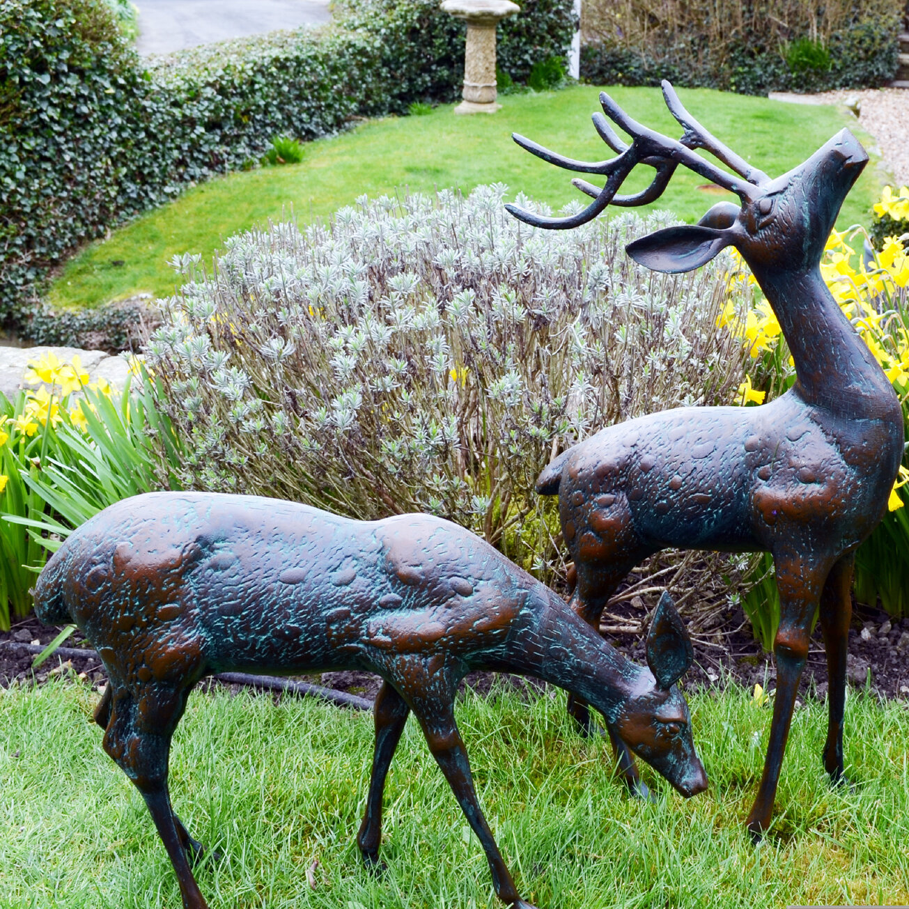11 Piece Deer Aluminium Statue Set