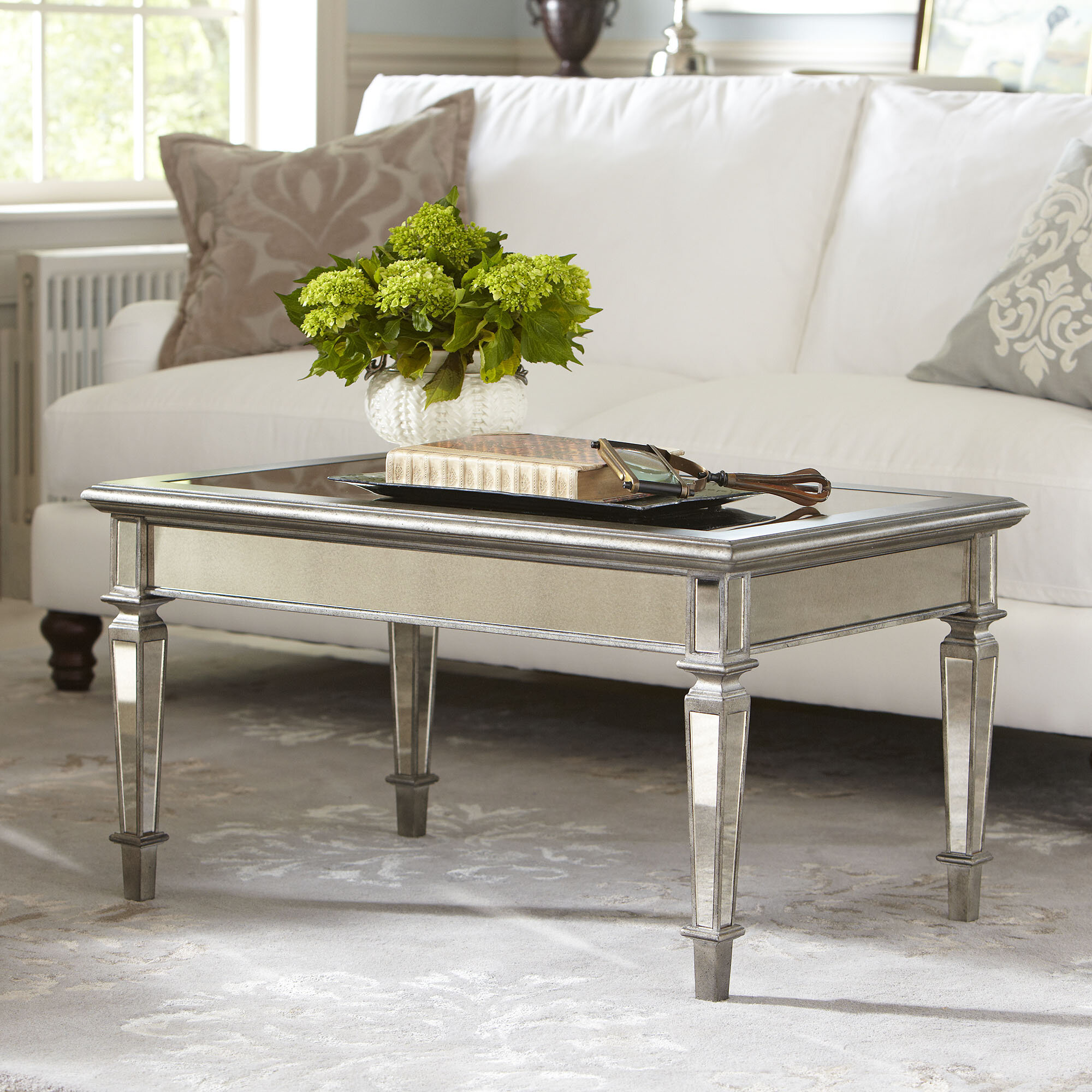 Leighton Mirrored Coffee Table & Reviews
