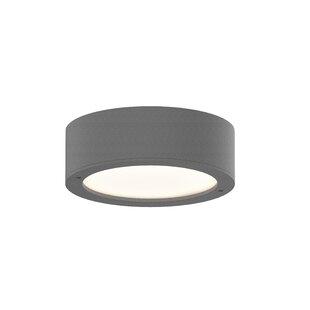Latitude Run Algarin 1-Light LEDPlate Lens Flush Mount