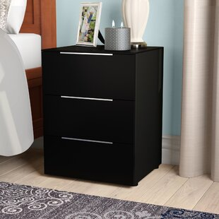 Sisk 3 Drawer Bedside Table By 17 Stories