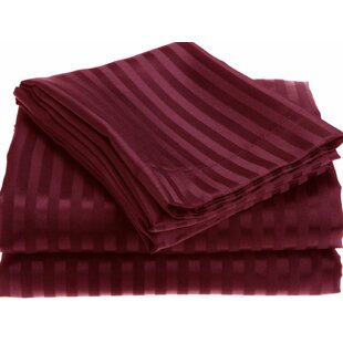 Alcott Hill Lecuyer Soft Touch Embossed Stripe Microfiber Sheet Set