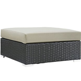 Brayden Studio Tripp Ottoman with Cushion
