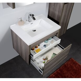 Aiyden 30 WallMounted Single Bathroom Vanity Set