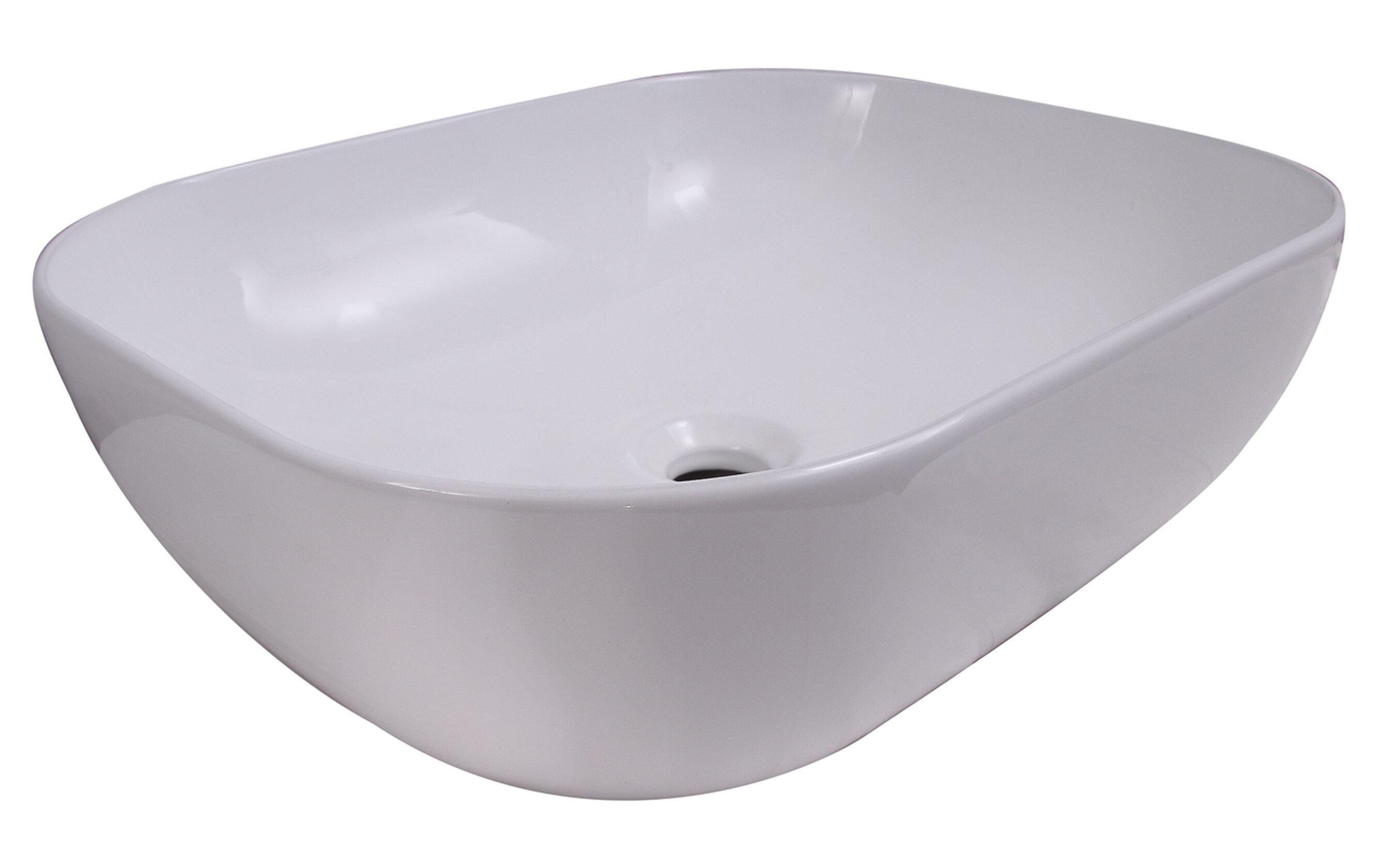 Barclay Kendra Vitreous China Oval Vessel Bathroom Sink Wayfair