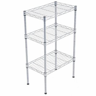 Rebrilliant Alena 3-Tier Wire Shelving Rack with S Hooks and Extra Shelf Line Steel Baker's Rack