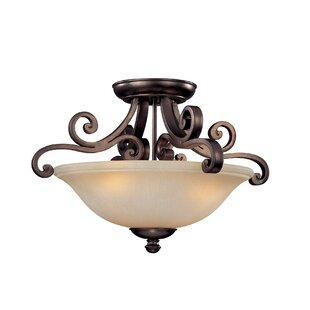 Whalen 3-Light Semi Flush Mount by Fleur De Lis Living