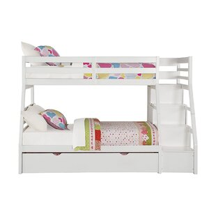 Wachter Twin over Full Bunk Bed with Trundle and 5 Drawers