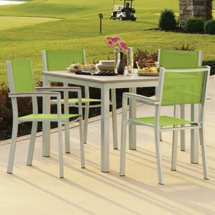 Latitude Run Farmington 5 Piece Dining Set with Stackable Chairs