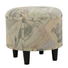 Cathy Round Fabric Ottoman by Home Loft Concepts