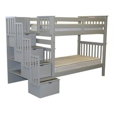 Tall Twin over Twin Bunk Bed with Storage by Bedz King