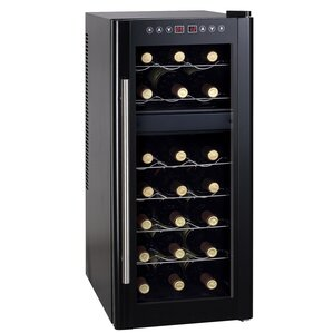 21 Bottle Dual Zone Freestanding Wine Cooler by ..