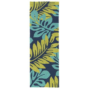 Navarre Hand-Tufted Green/Blue Indoor/Outdoor Area Rug