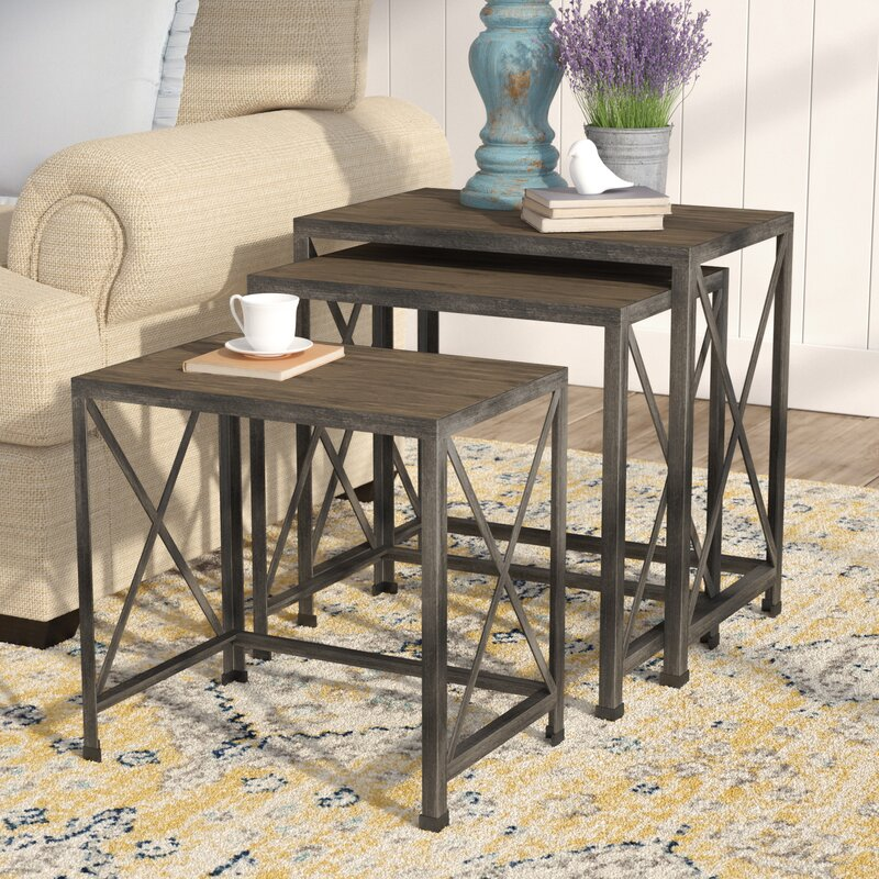 August Grove Doreen Piece Nesting Tables Reviews Wayfair - 3 piece nesting coffee table