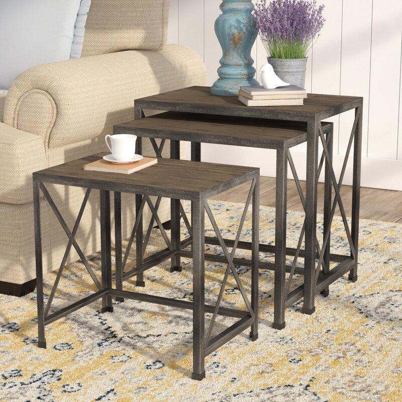August Grove Doreen Piece Nesting Tables Reviews Wayfair - 3 piece nesting coffee table