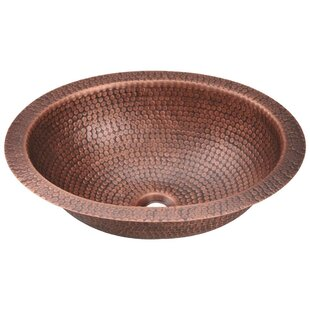 MR Direct Copper Dualmount Metal Oval Undermount Bathroom Sink