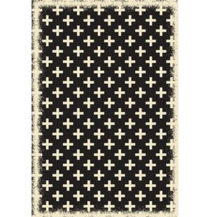 Luke Elegant Cross Design Blue/White Indoor/Outdoor Area Rug