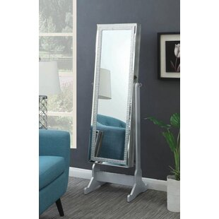 Faxon Free Standing Jewelry Armoire with Mirror