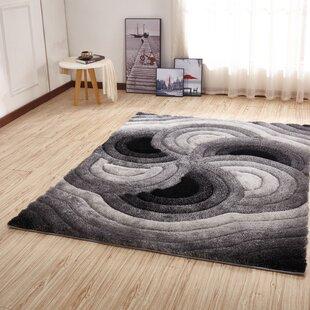Compare & Buy Kleiber Geometric Shaggy 3D Gray/Black Area Rug ByOrren Ellis