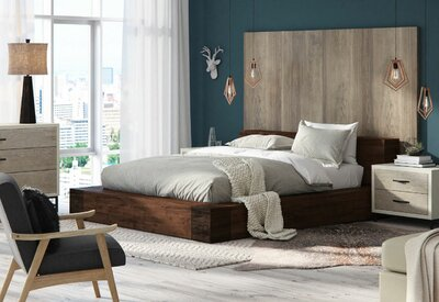 Modern Rustic Bedroom Design Photo by Union Rustic