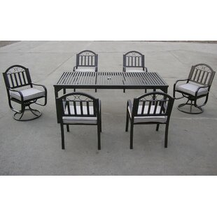 Oakland Living Rochester 7 Piece Dining Set with Cushions