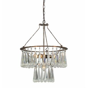 Bungalow Rose Maguire 4-Light Crystal Chandelier