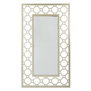 Rectangular Gold Framed Wall Mirror