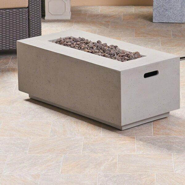 Latitude Run Caelan Outdoor Mgo Concrete Propane Gas Fire Pit Table Reviews Wayfair