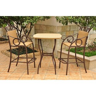 Three Posts Meetinghouse 3 Piece Bar Height Dining Set