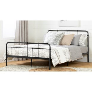 Plenny Metal Platform Bed with headboard