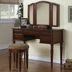 Best Reviews Roswell Vanity Set with Mirror By Three Posts