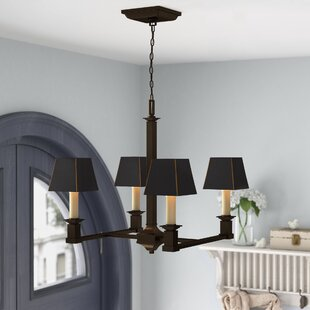 Columbine Valley 4-Light Shaded Chandelier by Laurel Foundry Modern Farmhouse