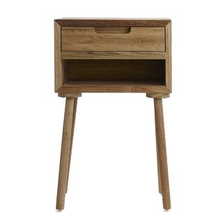 Olly Tall End Table with Storage
