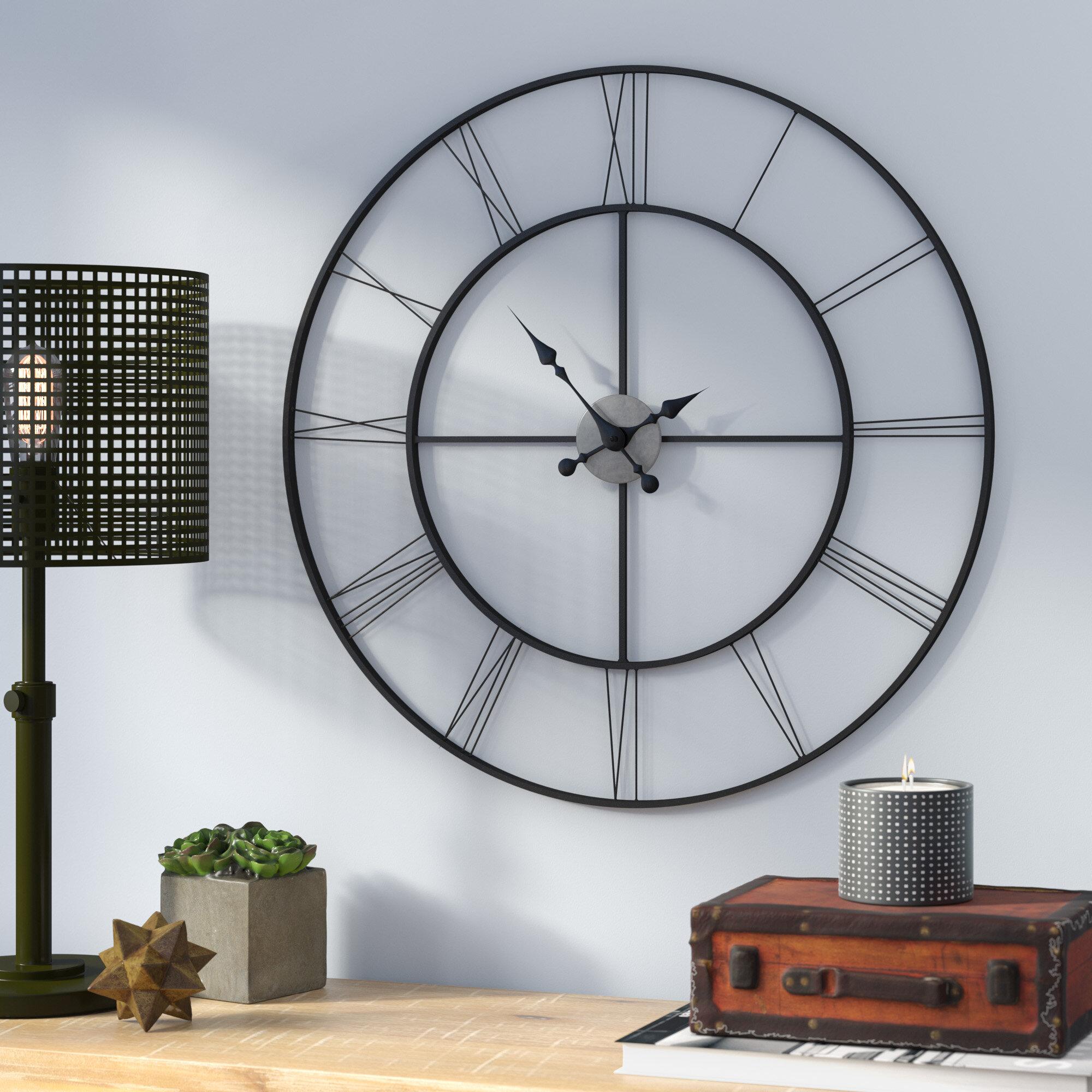 Laurel Foundry Modern Farmhouse Oversized Decorative 30 5 Wall Clock Reviews Wayfair
