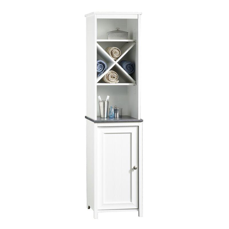 Small Bathroom Floor Cabinet With Door Storage Shelves Sauder