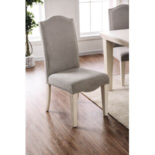 Javen Wooden Upholstered Dining Chair (Set of 2) by Alcott Hill