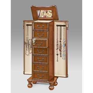 Mission Wood Free Standing Jewelry Armoire by Darby Home Co