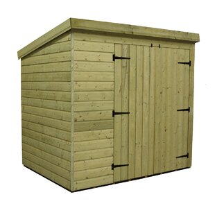 6 Ft. W X 6 Ft. D Shiplap Pent Wooden Shed By WFX Utility