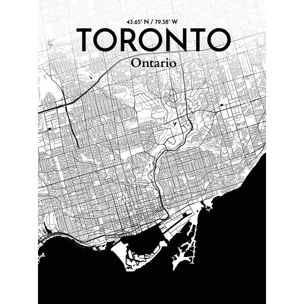 Ourposter toronto city map graphic art print poster in ink ourposter toronto city map graphic art print poster in ink reviews wayfair gumiabroncs Choice Image