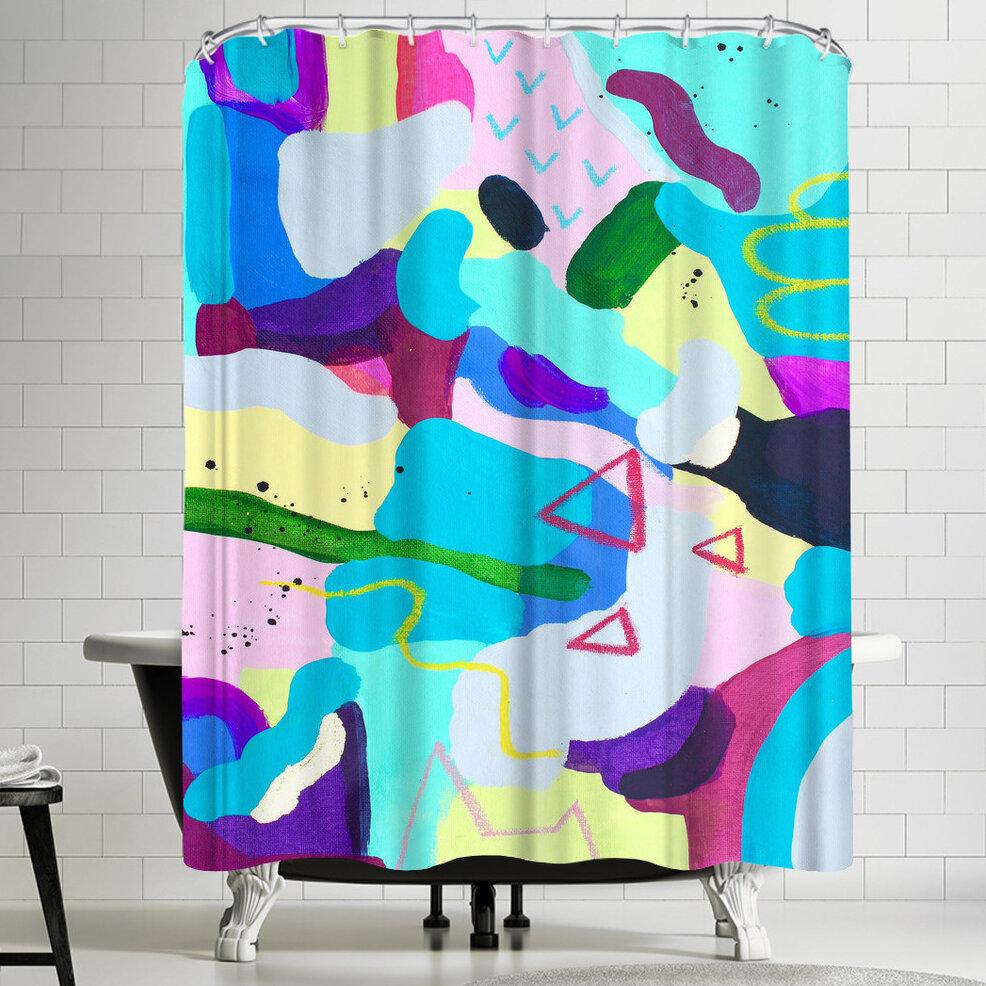 East Urban Home Deb Mcnaughton Manic Single Shower Curtain Wayfair