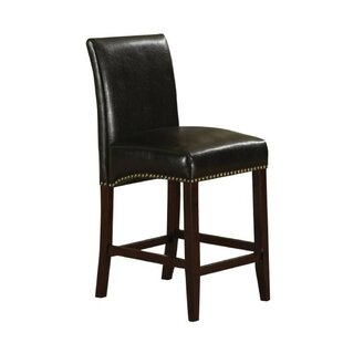 Amias Counter Height Upholstered Dining Chair (Set of 2) Alcott Hill