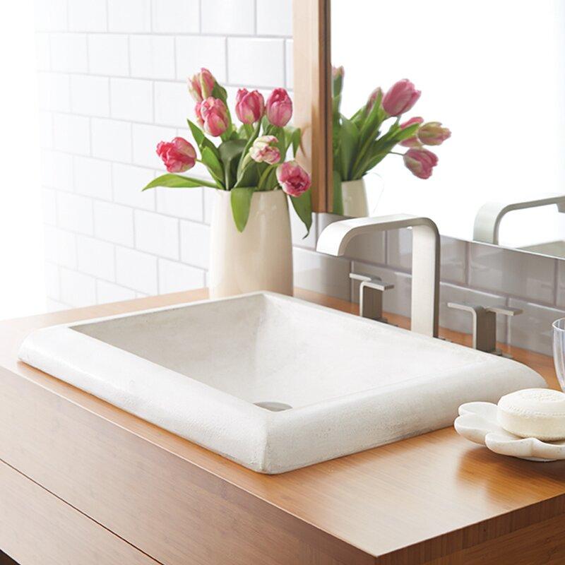 montecito stone self rimming bathroom sink