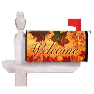 Fall Leaves Mailbox Cover By Evergreen Flag & Garden